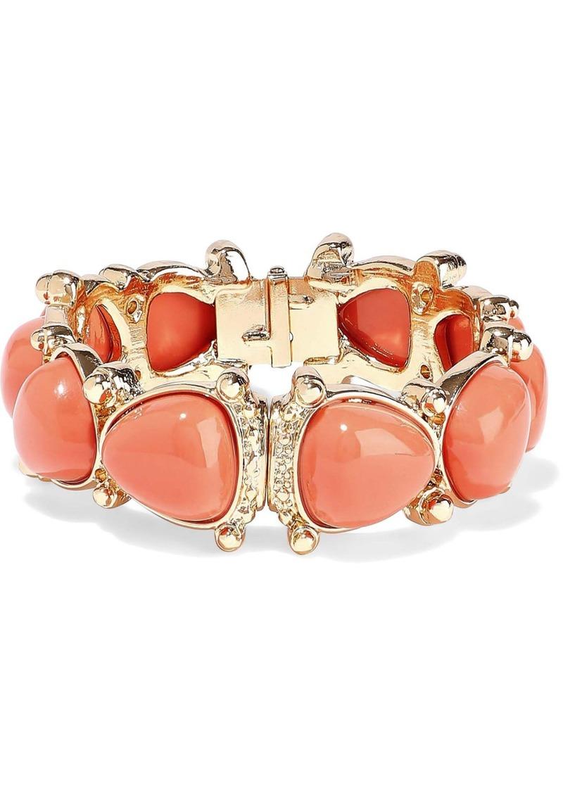 Kenneth Jay Lane Woman 22-karat Gold-plated Stone Bracelet Coral