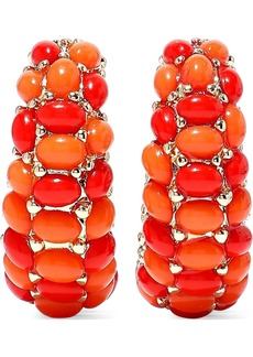 Kenneth Jay Lane Woman 22-karat Gold-plated Stone Clip Earrings Coral