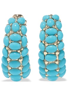Kenneth Jay Lane Woman 22-karat Gold-plated Stone Clip Earrings Turquoise