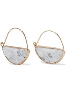 Kenneth Jay Lane Woman 22-karat Gold-plated Stone Earrings White