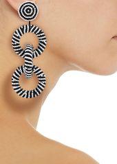 Kenneth Jay Lane Woman Beaded Earrings Black