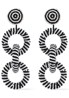 Kenneth Jay Lane Woman Beaded Earrings Black