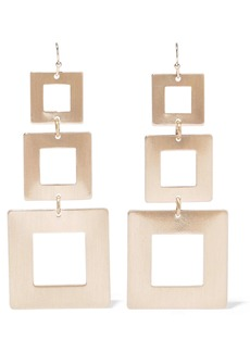 Kenneth Jay Lane Woman Brushed 22-karat Gold-plated Earrings Gold
