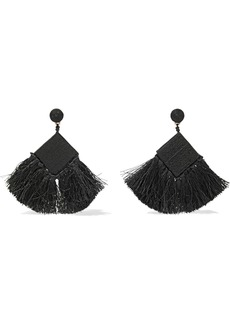 Kenneth Jay Lane Woman Cord Bead And Tassel Earrings Black