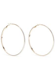 Kenneth Jay Lane Woman Glittered Gold-tone Hoop Earrings Gold