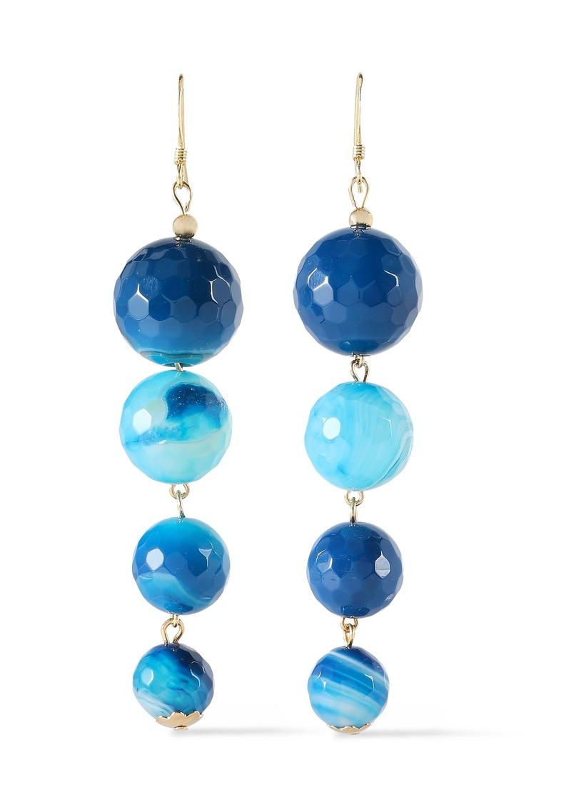 Kenneth Jay Lane Woman Gold-plated Bead Earrings Blue