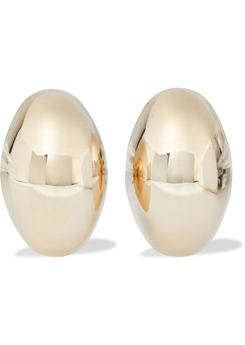 Kenneth Jay Lane Woman Gold-plated Clip Earrings Gold