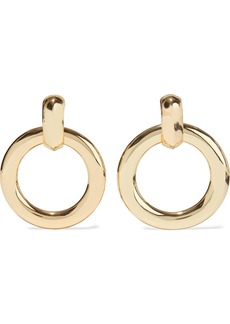 Kenneth Jay Lane Woman Gold-plated Clip Hoop Earrings Gold