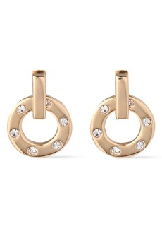 Kenneth Jay Lane Woman Gold-plated Crystal Earrings Gold