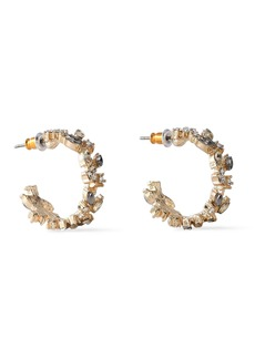Kenneth Jay Lane Woman Gold-plated Crystal Hoop Earrings Gold