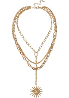 Kenneth Jay Lane Woman Gold-plated Crystal Necklace Gold