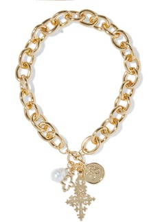 Kenneth Jay Lane Woman Gold-plated Faux Pearl Necklace Gold