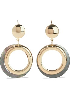 Kenneth Jay Lane Woman Gold-plated Faux Shell Hoop Earrings Gold