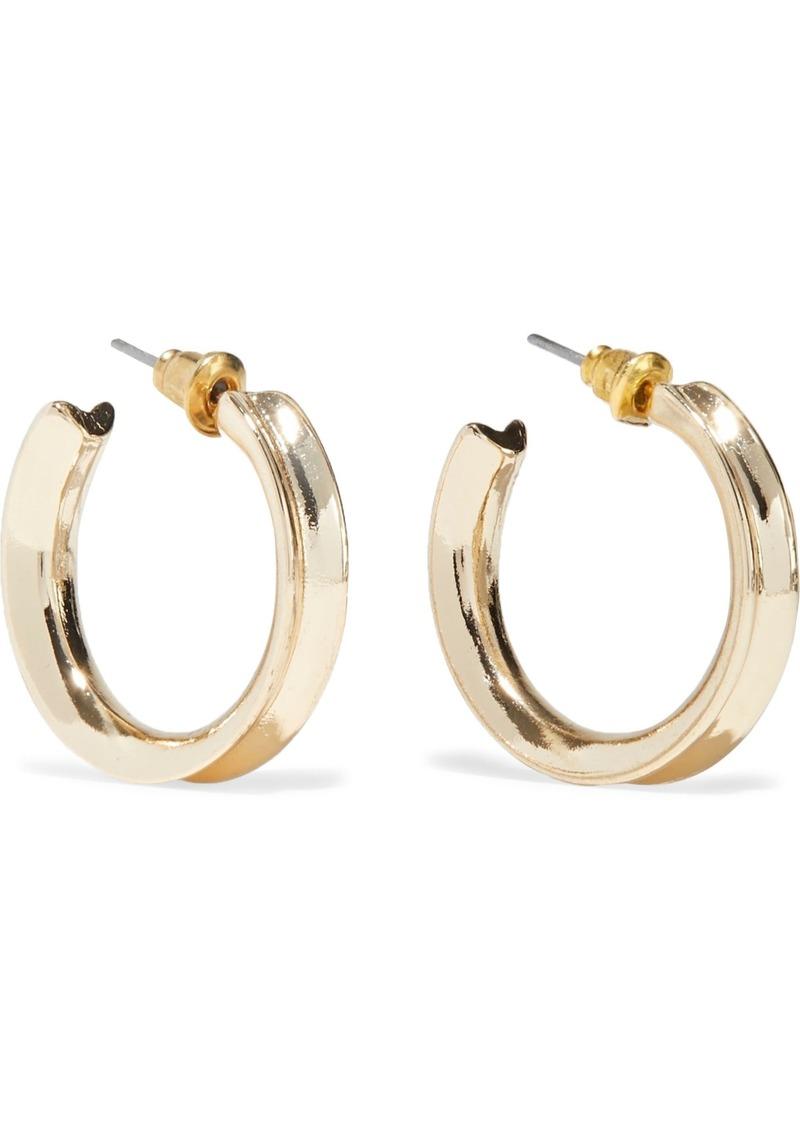 Kenneth Jay Lane Woman Gold-plated Hoop Earrings Gold