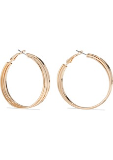 Kenneth Jay Lane Woman Gold-plated Hoop Earrings Gold