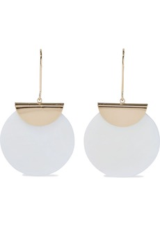 Kenneth Jay Lane Woman Gold-plated Mother-of-pearl Earrings Ivory