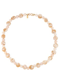 Kenneth Jay Lane Woman Gold-plated Pearl And Shell Necklace Gold