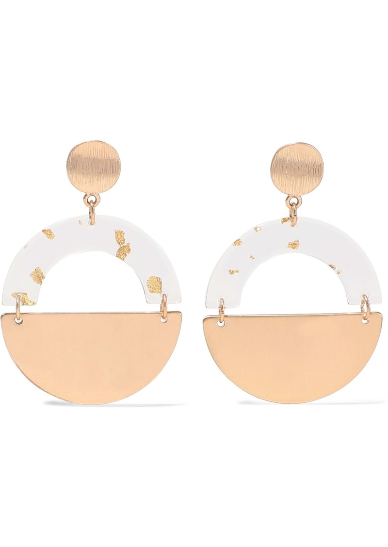 Kenneth Jay Lane Woman Gold-plated Resin Earrings Gold