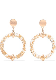Kenneth Jay Lane Woman Gold-plated Resin Hoop Earrings Gold