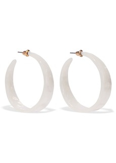 Kenneth Jay Lane Woman Gold-plated Resin Hoop Earrings Ivory