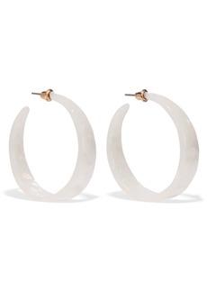 Kenneth Jay Lane Woman Gold-plated Resin Hoop Earrings Ivory