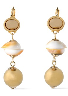 Kenneth Jay Lane Woman Gold-plated Shell Earrings Gold
