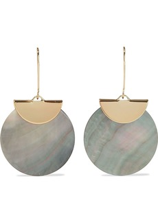 Kenneth Jay Lane Woman Gold-plated Shell Earrings Gray