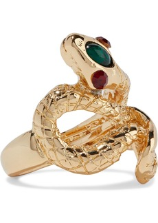 Kenneth Jay Lane Woman Gold-plated Stone And Crystal Ring Gold