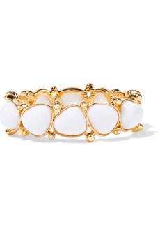 Kenneth Jay Lane Woman Gold-plated Stone Bracelet White