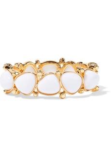 Kenneth Jay Lane Woman Gold-plated Stone Bracelet White