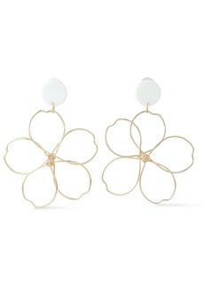 Kenneth Jay Lane Woman Gold-tone Acetate Earrings Gold
