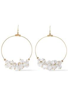 Kenneth Jay Lane Woman Gold-tone Bead Hoop Earrings Gold
