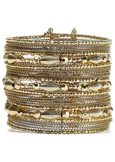 Kenneth Jay Lane Woman Gold-tone Beaded Cuff Gold