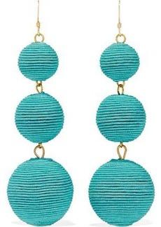 Kenneth Jay Lane Woman Gold-tone Beaded Earrings Turquoise