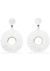 Kenneth Jay Lane Woman Gold-tone Beaded Earrings White
