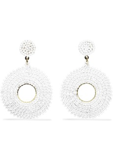 Kenneth Jay Lane Woman Gold-tone Beaded Earrings White