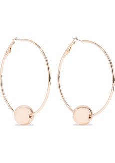 Kenneth Jay Lane Woman Gold-tone Beaded Hoop Earrings Gold