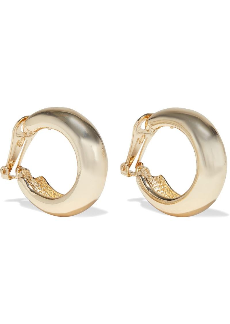 Kenneth Jay Lane Woman Gold-tone Clip Hoop Earrings Gold