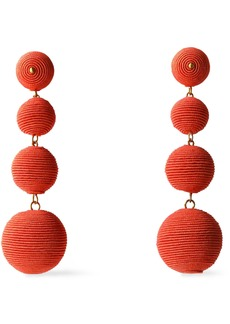 Kenneth Jay Lane Woman Gold-tone Cord Earrings Coral