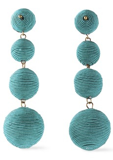 Kenneth Jay Lane Woman Gold-tone Cord Earrings Turquoise