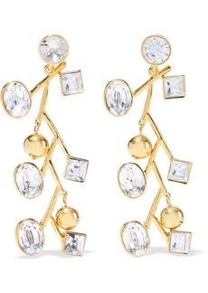 Kenneth Jay Lane Woman Gold-tone Crystal Earrings Gold