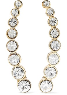 Kenneth Jay Lane Woman Gold-tone Crystal Earrings Gold