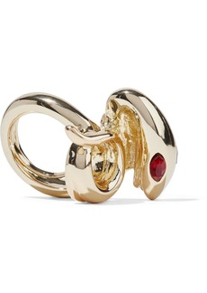 Kenneth Jay Lane Woman Gold-tone Crystal Ring Gold