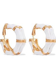 Kenneth Jay Lane Woman Gold-tone Enamel Earrings White