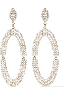 Kenneth Jay Lane Woman Gold-tone Faux Pearl Earrings Gold