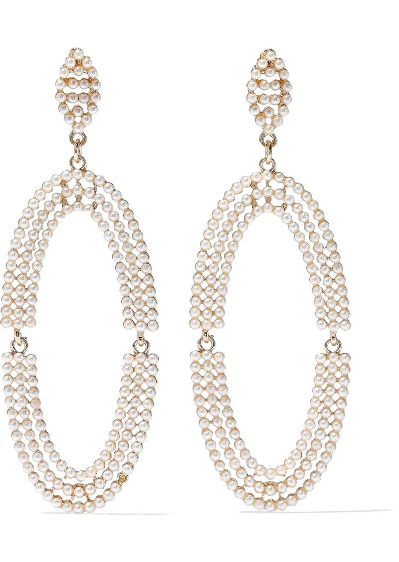 Kenneth Jay Lane Woman Gold-tone Faux Pearl Earrings Gold