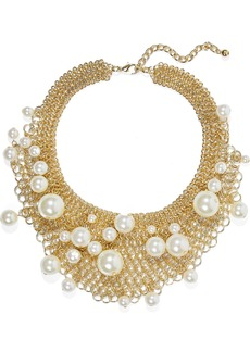 Kenneth Jay Lane Woman Gold-tone Faux Pearl Necklace Gold