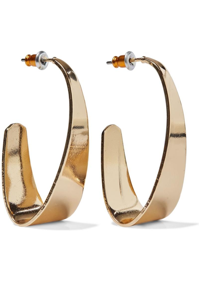 Kenneth Jay Lane Woman Gold-tone Hoop Earrings Gold