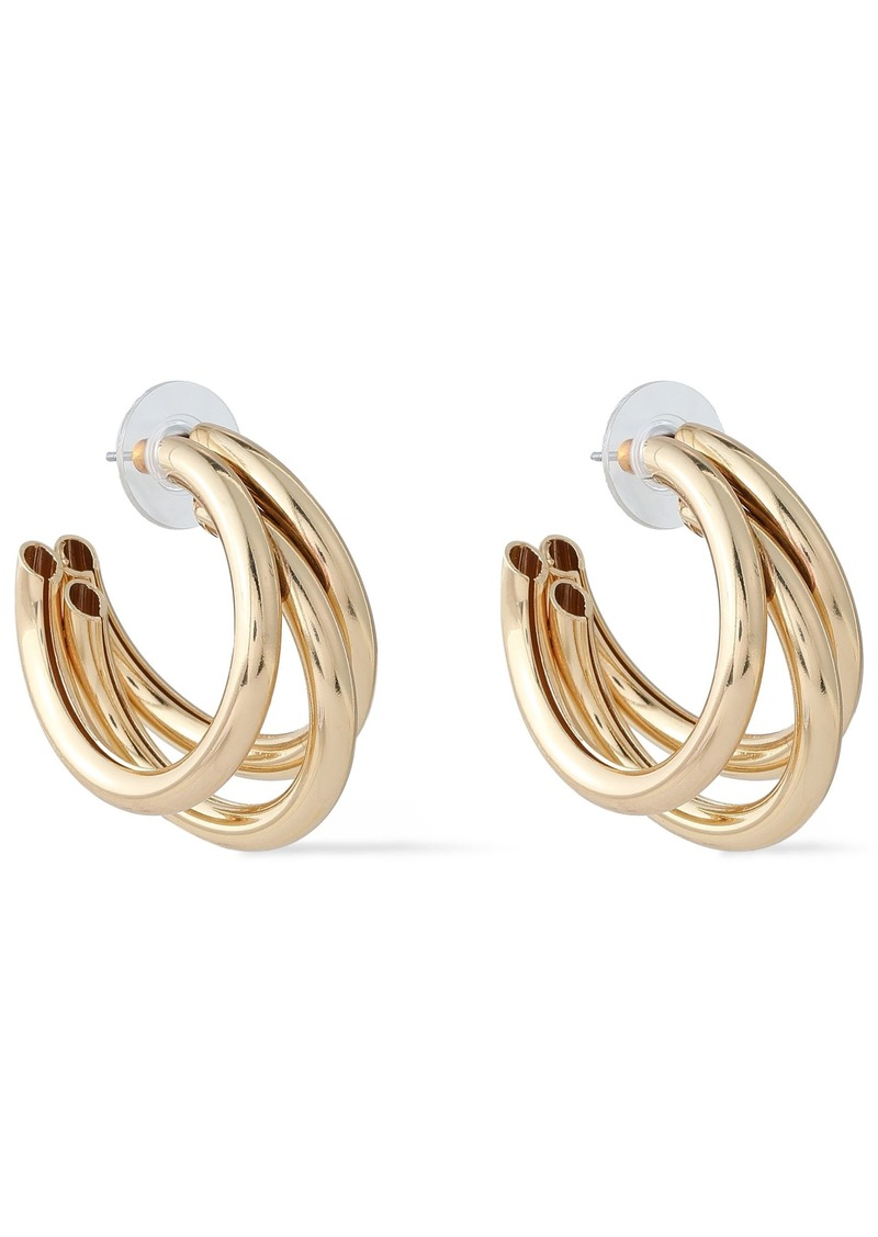 Kenneth Jay Lane Woman Gold-tone Hoop Earrings Gold