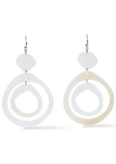 Kenneth Jay Lane Woman Gold-tone Resin Earrings Ivory